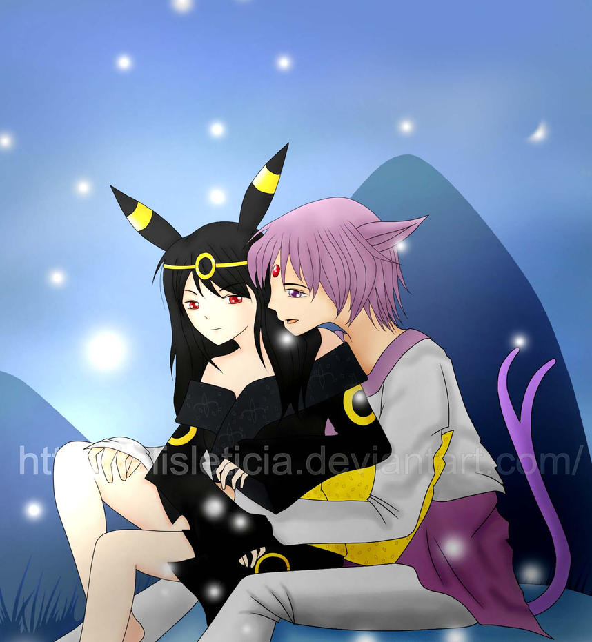 gijinka umbreon and espeon by LelisLeticia on DeviantArt