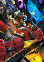 Ironhide VS ravage by zhuyukun