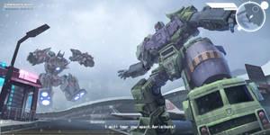 Devastator VS aerialbots