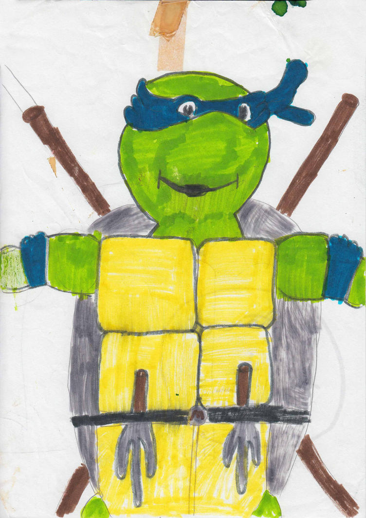 Leonardo-teenage-mutant-hero-turtles-1992 by JUSTINQ88