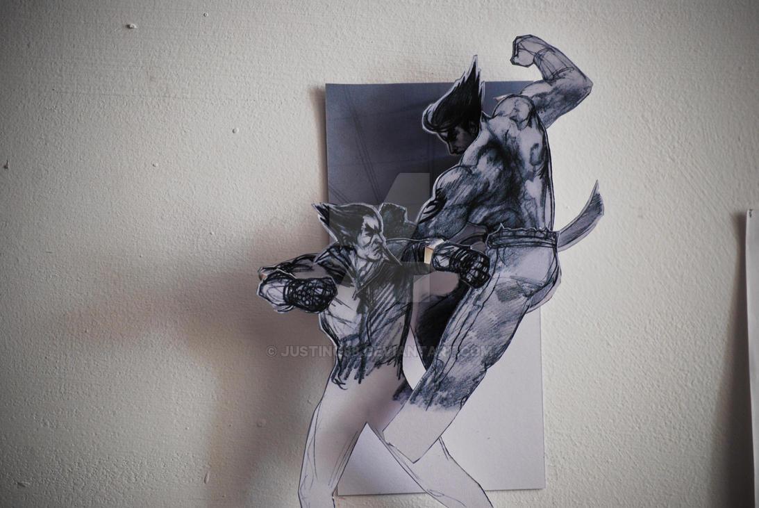 kekkoukamen 3D Tekken papercraft wall art by JUSTINQ88 ...