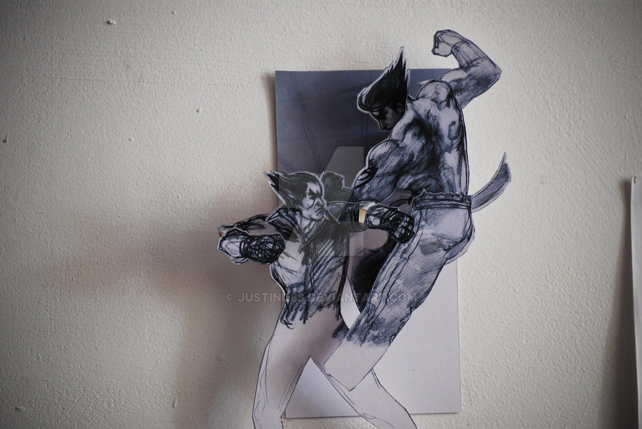 kekkoukamen 3D Tekken papercraft wall art by JUSTINQ88 Tekken papercraft wall art by JUSTINQ88