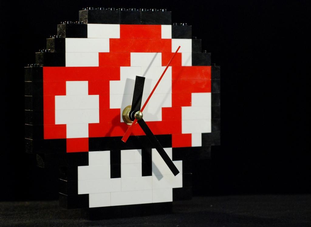 Power UP LEGO Clock by RickyVonReven
