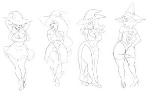 Witch Sketch by Ghost-Troupe