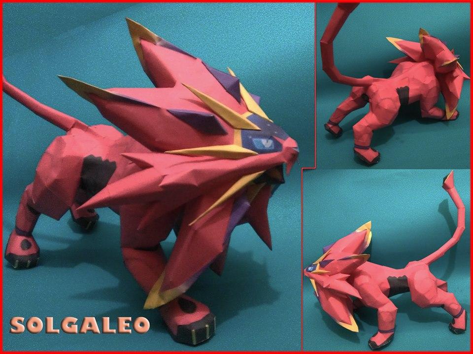solgaleo shiny papercraft by jorgeescalante