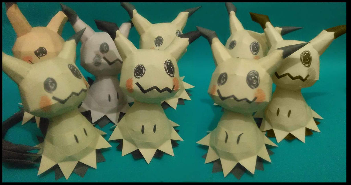mimikyu papercraft by jorgeescalante