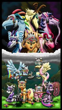 Equestrian Wereworld - Mane Six as Weredragons