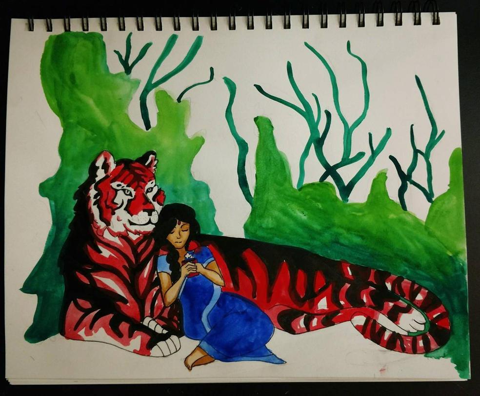 red tiger by PaigeSchneider0430