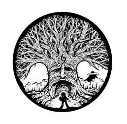 Deku Tree Tattoo by operatingthetan