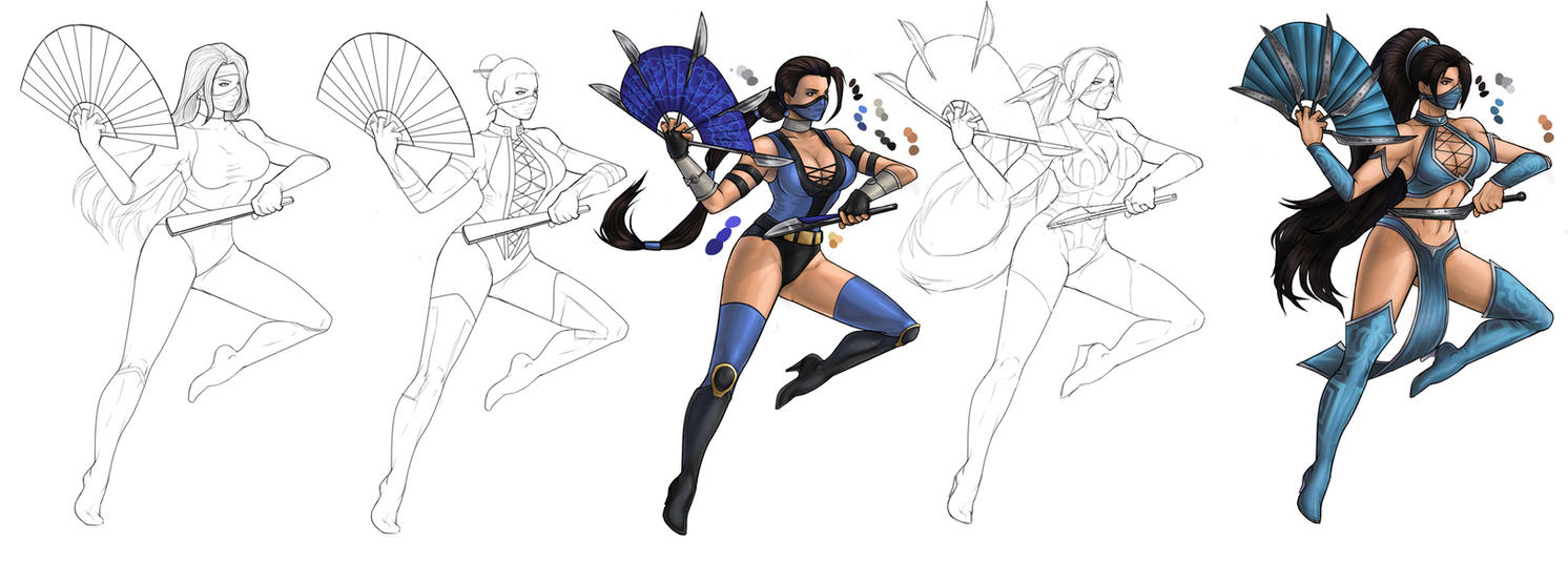 Evolution of Kitana WIP by operatingthetan
