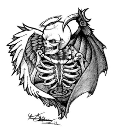 Death Angel Tattoo by operatingthetan
