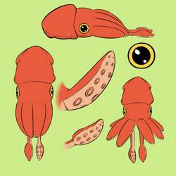 Squid pillow Plush by Leachy-8E