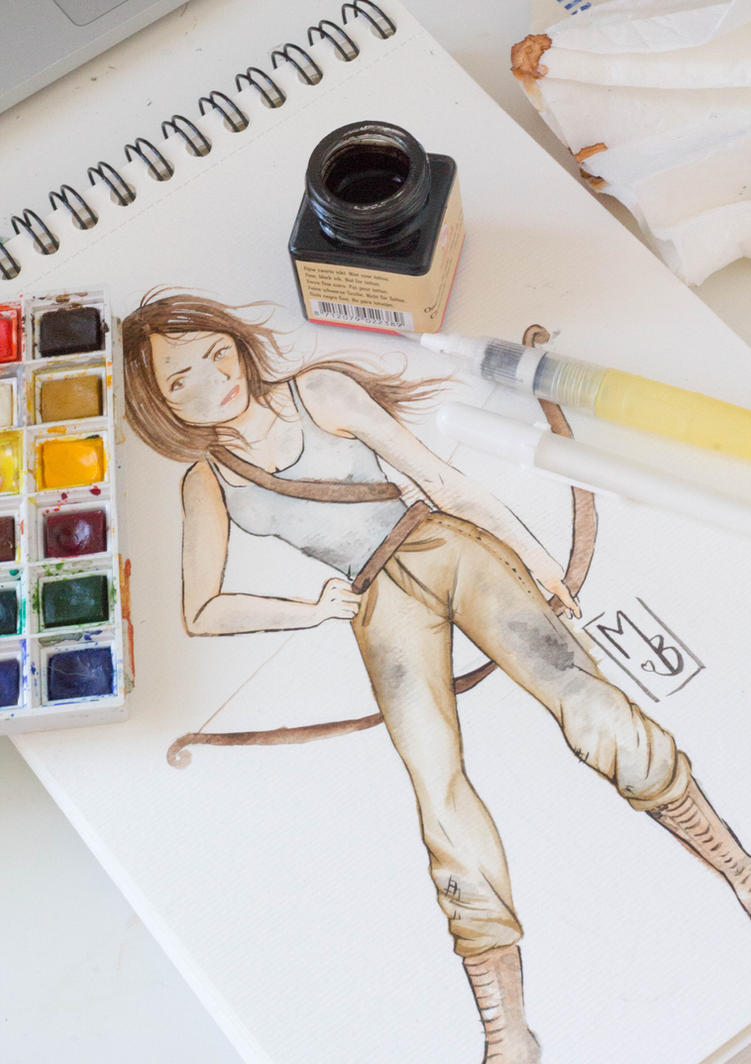 Lara Croft by MaryBrownie