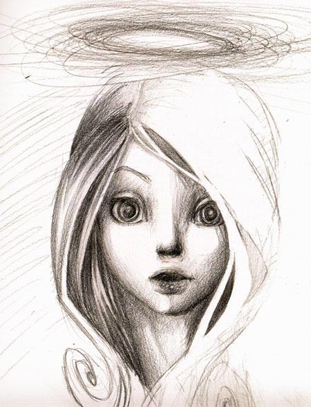 Hola alguien tiene imagenes de angelitos dibujados para serigrafia