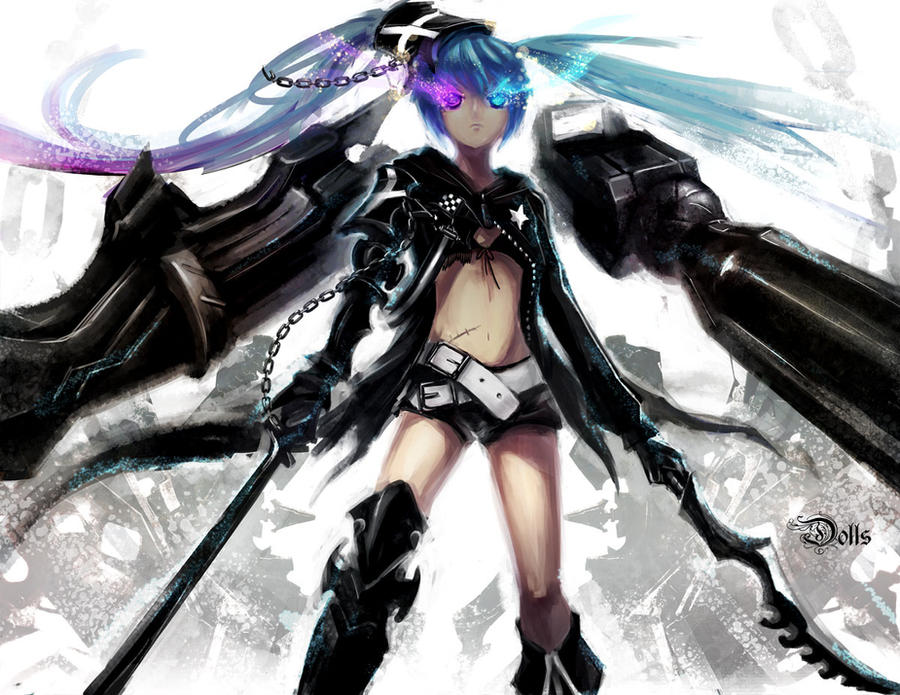 hybrid Black rock shooter V2 by dolls-of-paradox