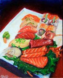 Acrylic  delicious sushi