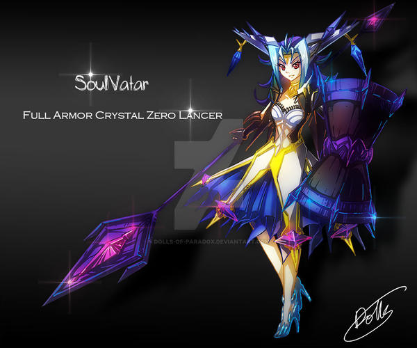 YGO SoulVatar full armour crystal zero lancer by dolls-of-paradox