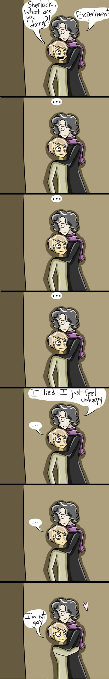 Johnlock Cuddles by TheSpoonIsMightier