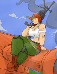 Sami rocking her guns by Commoddity
