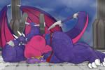 Big Cynder and Spyro by Commoddity