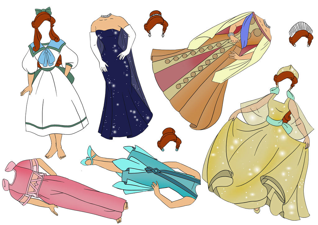 Anastasia Paper Dolls 2 By Shivyus On DeviantArt
