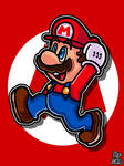 Just Mario Jumping In The Air