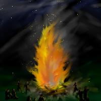 Bonfire night by Naye