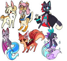Emoji Based Cheap Adoptables-OPEN by Fennikyuu