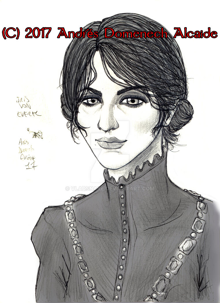 Iris von Everec 01 Lineart by Vladsnake