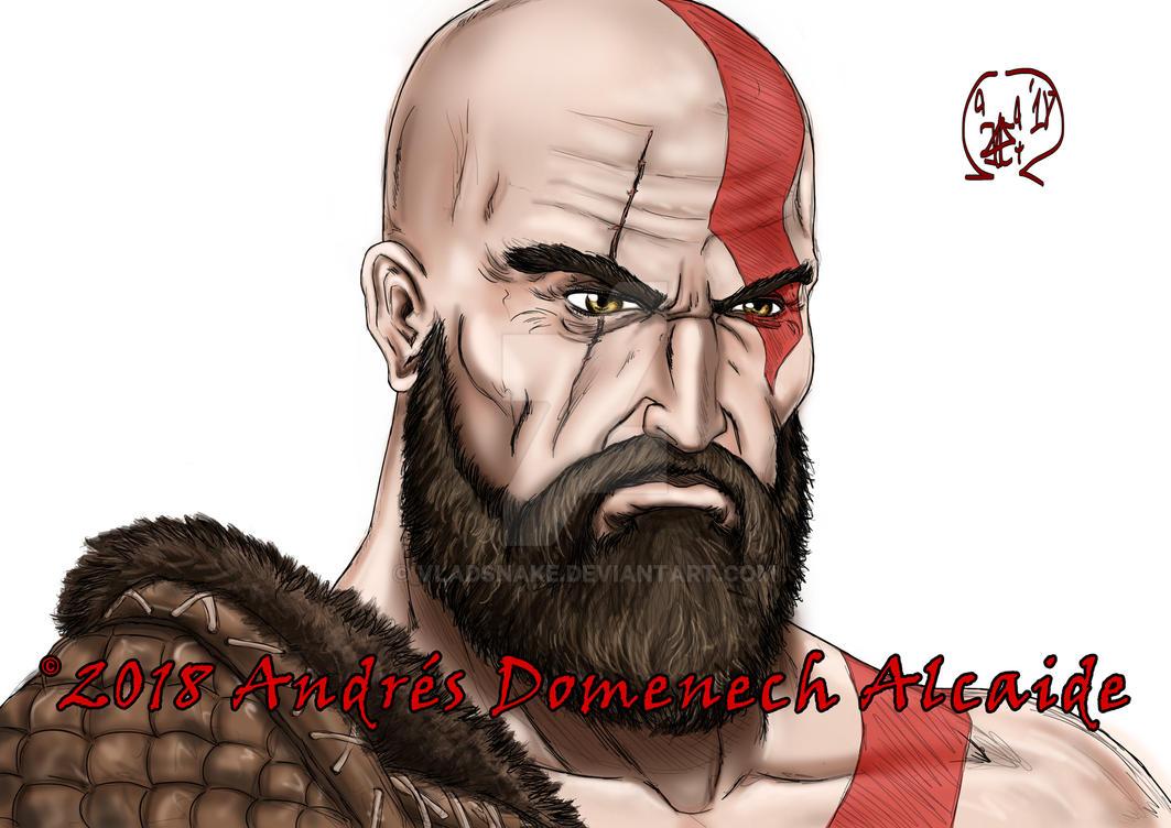 Kratos Quick Portrait 01 by Vladsnake