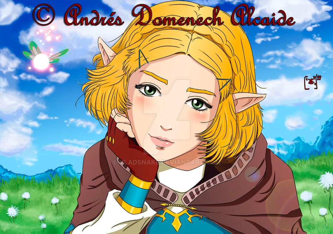 Princess Zelda Portrait 01 by Vladsnake