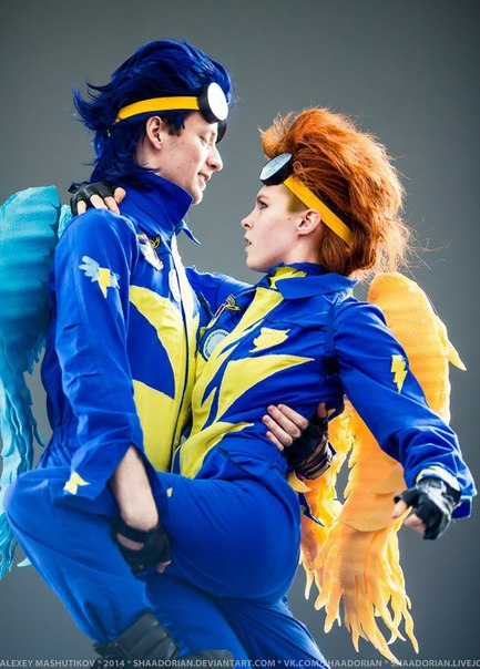 Spitfire and Soarin - Wonderbolts cosplay by Dixidana