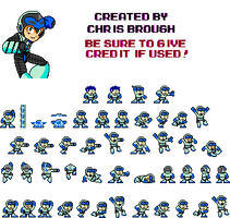 Mighty No. 9 Mega Man Styled Spritehsset V3!!! by ProfChristopher