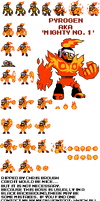 Mighty Gunvolt-Mighty No. 1 (Pyrogen) Spritesheet