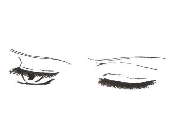 Kazahaya's sleepy eyes by hylian-dragoness on DeviantArt