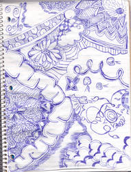 Doodle with a ball point pen