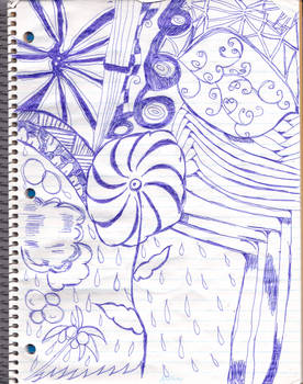 doodle with a ball point pen again