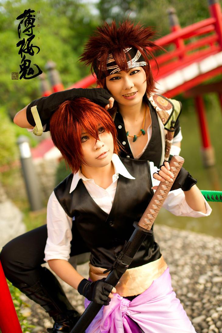 Hakuouki: Ginnah and Manry by ashteyz