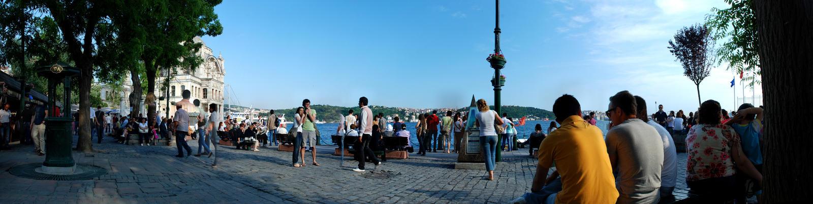 Ortakoy Square Panoramic 1