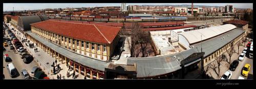 Eskisehir Tren Gari Panorama by thenoiseless