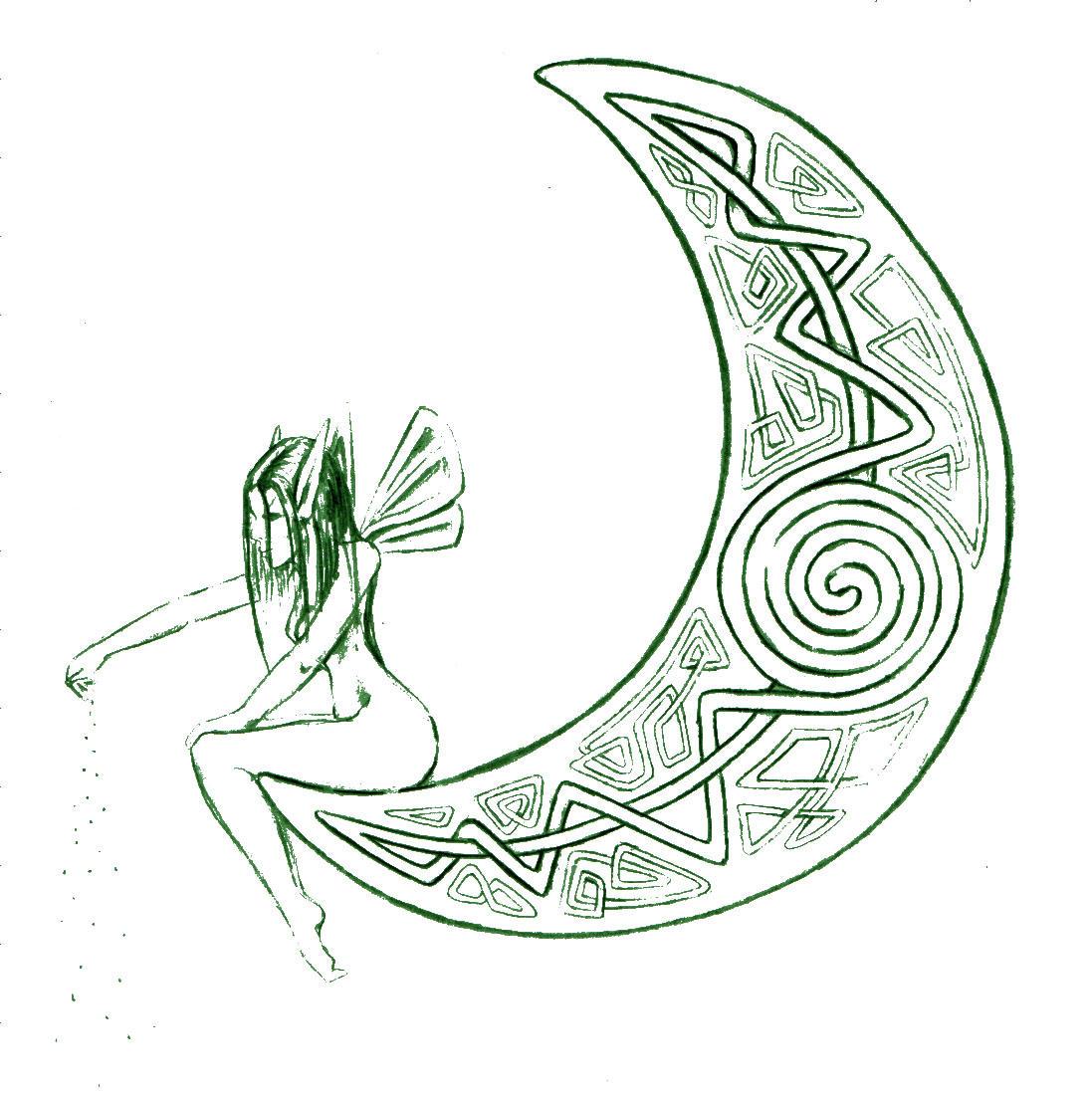 Celtic Moon by amuletts on DeviantArt