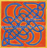 Knotwork in Orange and Blue by amuletts