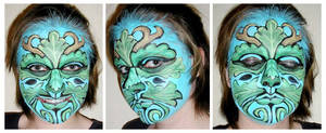 Face Painting - Green Man by amuletts