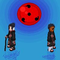 Sasuke and Madara by tacurumin