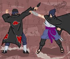 Sasuke vs Itachi by tacurumin