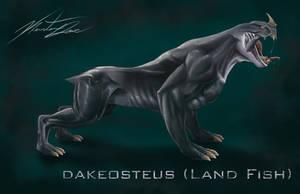 Dakeosteus - Land Fish by KurtisDawe