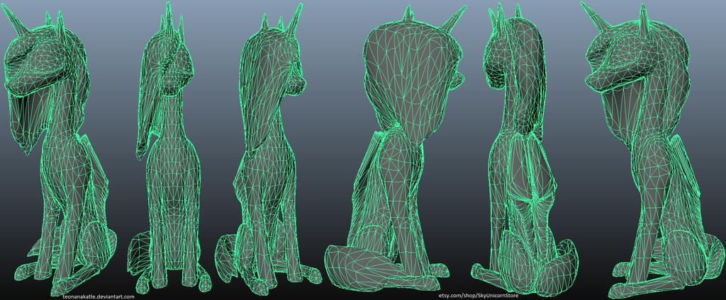 Princess Luna 3D alicorn by Teonanakatle