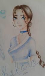 a quick sketch of Katara by Wierdguacamole