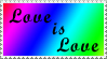 Love is Love stamp by capriciousgamzeee
