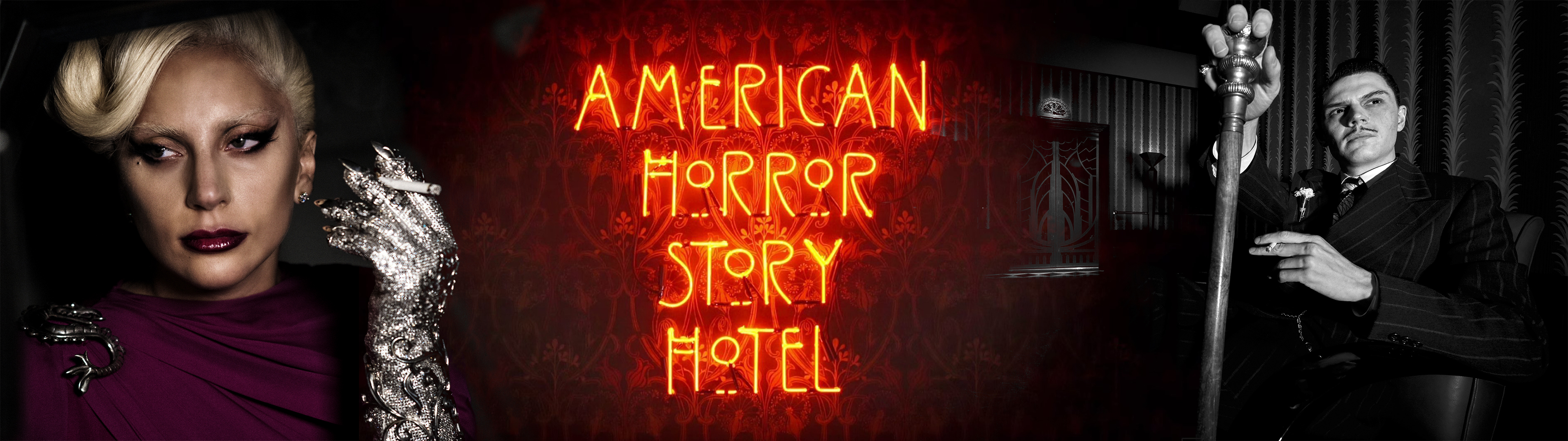 American Horror Story Hotel Dual Screen Wallpaper By Lariatura On